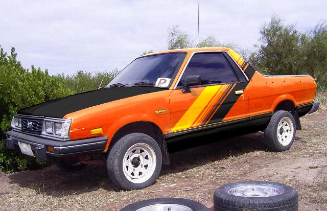 Subaru Brat with custom paint.