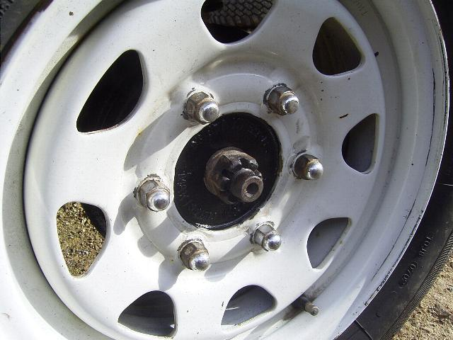 Nissan six stud wheels fitted to a Subaru Brumby Brat