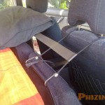 Outback in car storage and sleeping system