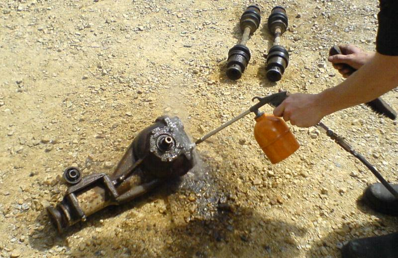 Offroading Subarus » Blog Archive » Welding the R160 in the